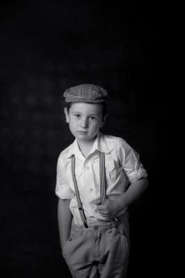 B/w boy Kids portrait