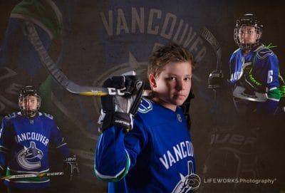Ice hockey Character Portrait