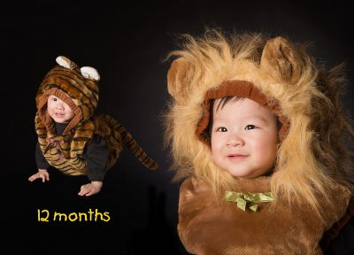 Dress in animal outfit of 1 year old