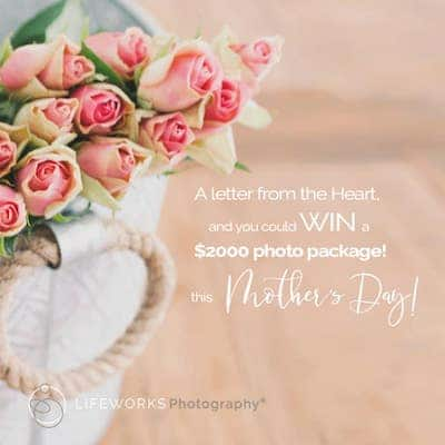 Mothers day gift voucher by Lifeworks Photography