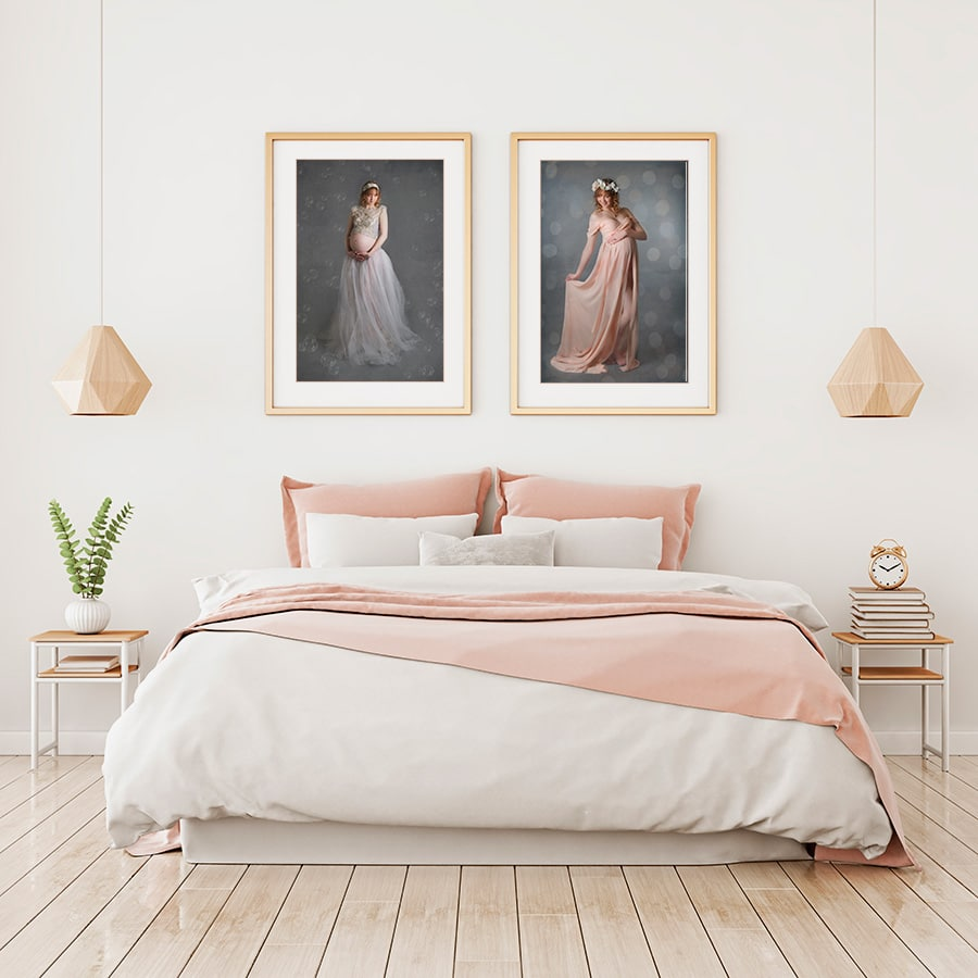 maternity portraits for bedroom wall
