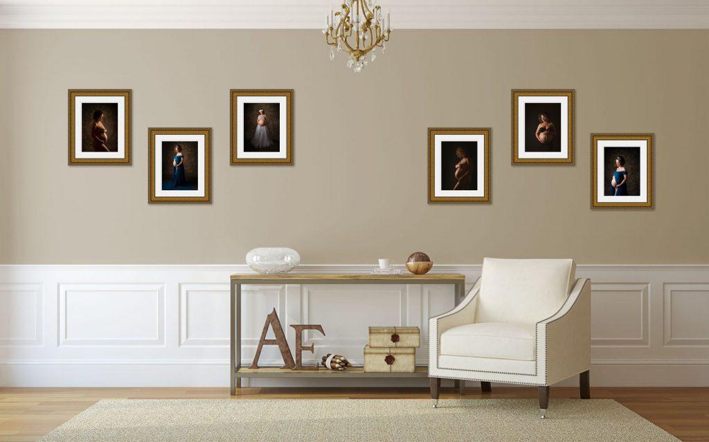 wall collection of pregnancy photos